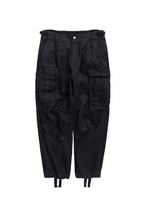 "EASTLOGUE - BATTLE FIELD PANTS ""BLACK DENIM"""
