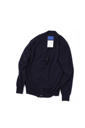 "DOCUMENT - THE DOCUMENT CLASSIC NAVY CARDIGAN ""NAVY"""