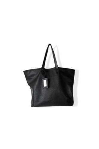 "BROWN YARD -  Leather Shopper Bag ""Black"""