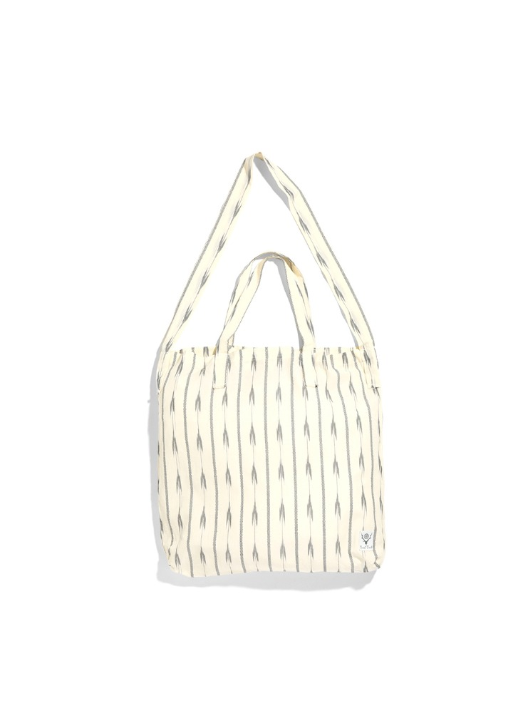 "SOUTH2 WEST8 - Grocery Bag - Ikat Arrow ""WHITE"""