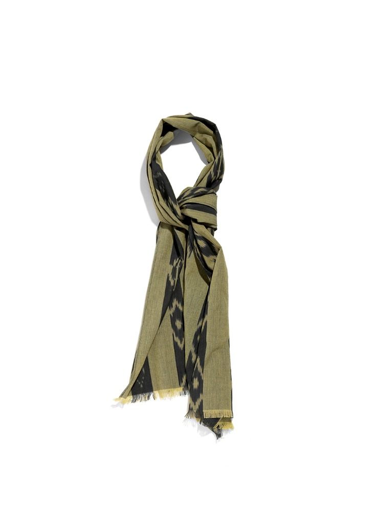 "SOUTH2 WEST8 - Stole - Ikat Stripe ""YELLOW"""