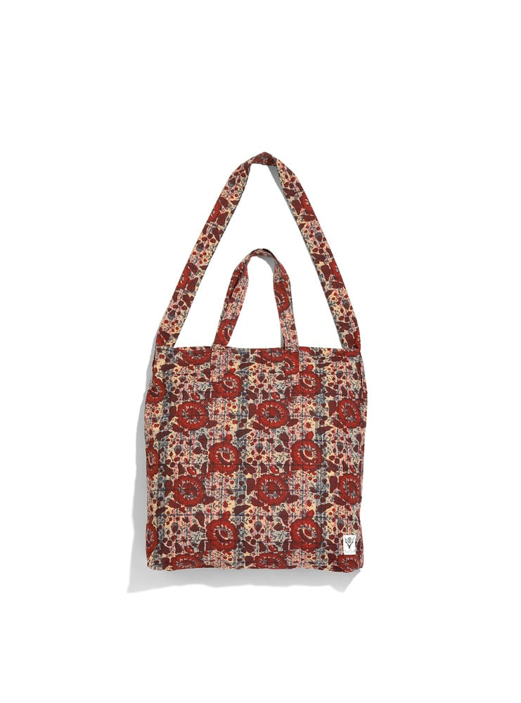 "SOUTH2 WEST8 - Grocery Bag - Batik Over Print ""BEIGE"""