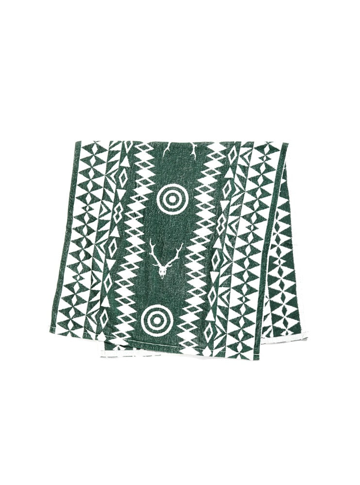"SOUTH2 WEST8 - Bath Towel - Cotton Jacquard ""Target & Skull"""