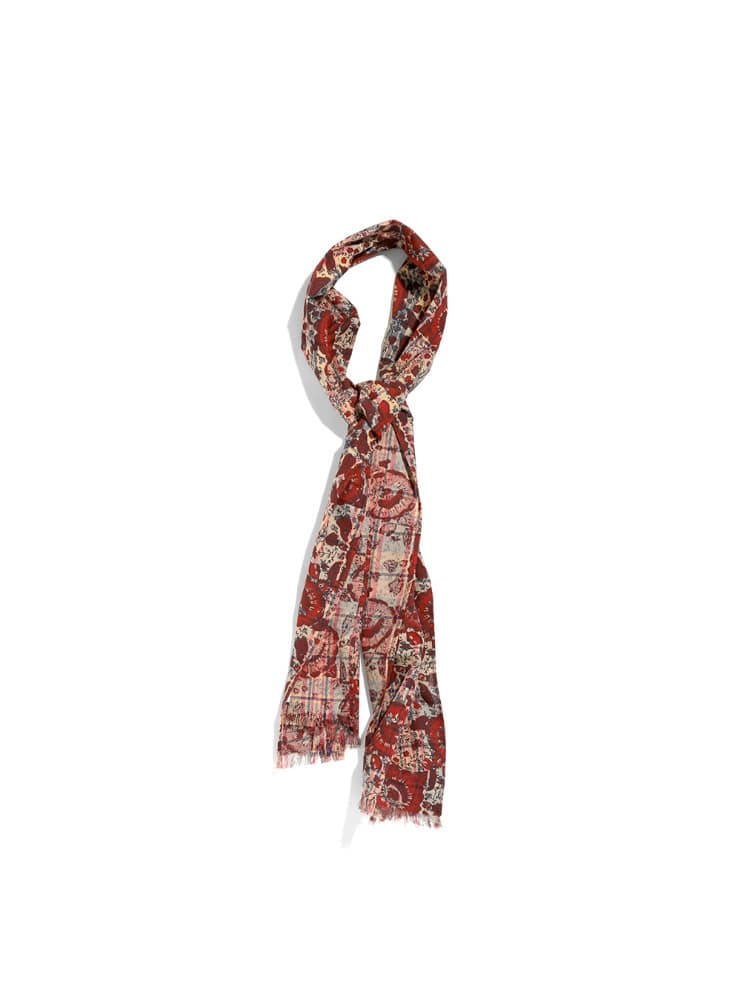 "SOUTH2 WEST8 - Stole - Batik Over Print ""BEIGE"""