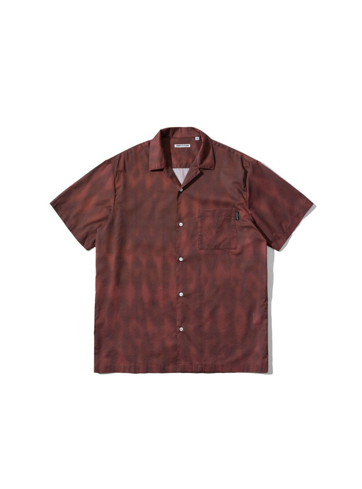 "USED FUTURE - TRIBAL 1/2 SHIRT ""BROWN"""