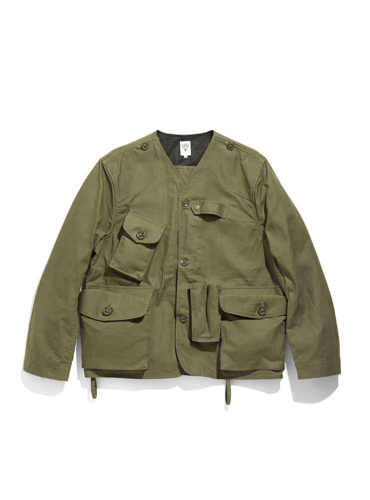 "SOUTH2 WEST8 - Tenkara Jacket - Oxford / Paraffin Coating ""OLIVE"""