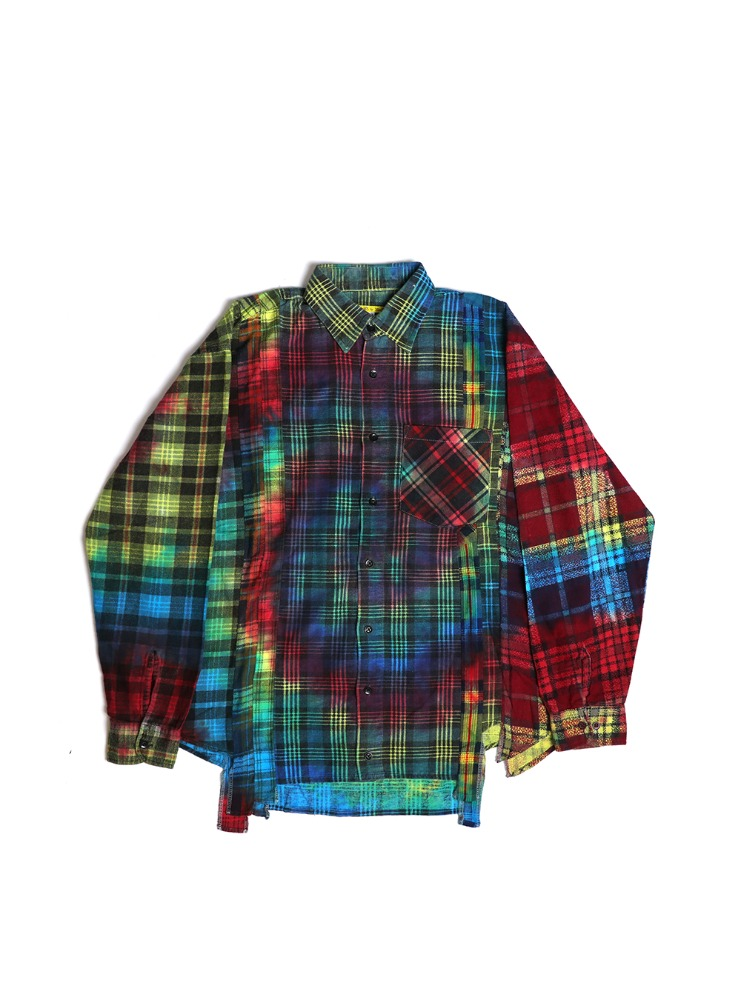"NEEDLES - REBUILD BY NEEDLES FLANNEL SHIRT 7 CUTS SHIRT ""TIE DYE"" 01"