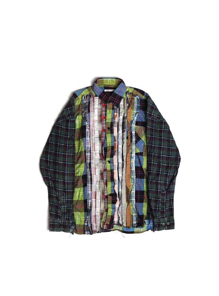 "NEEDLES - REBUILD BY NEEDLES FLANNEL SHIRT RIBBON WIDE SHIRT ""ASSORTED"" 01"