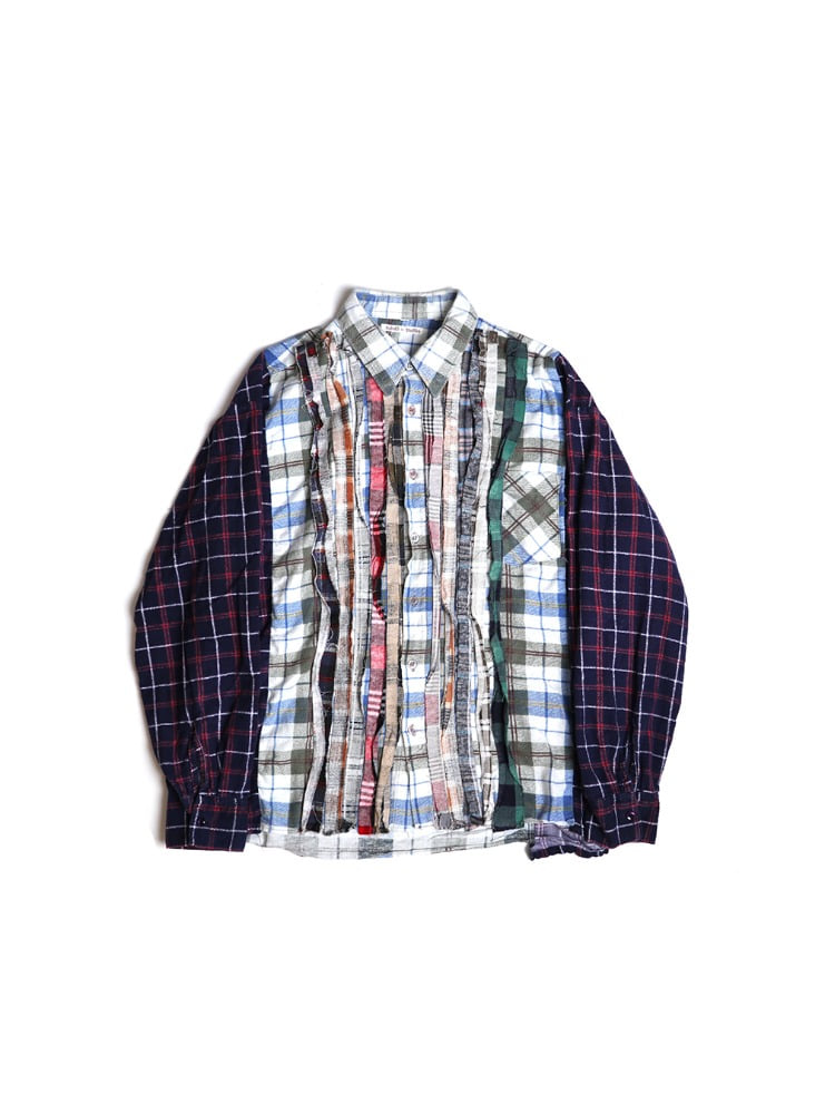 "NEEDLES - REBUILD BY NEEDLES FLANNEL SHIRT RIBBON WIDE SHIRT ""ASSORTED"" 03"