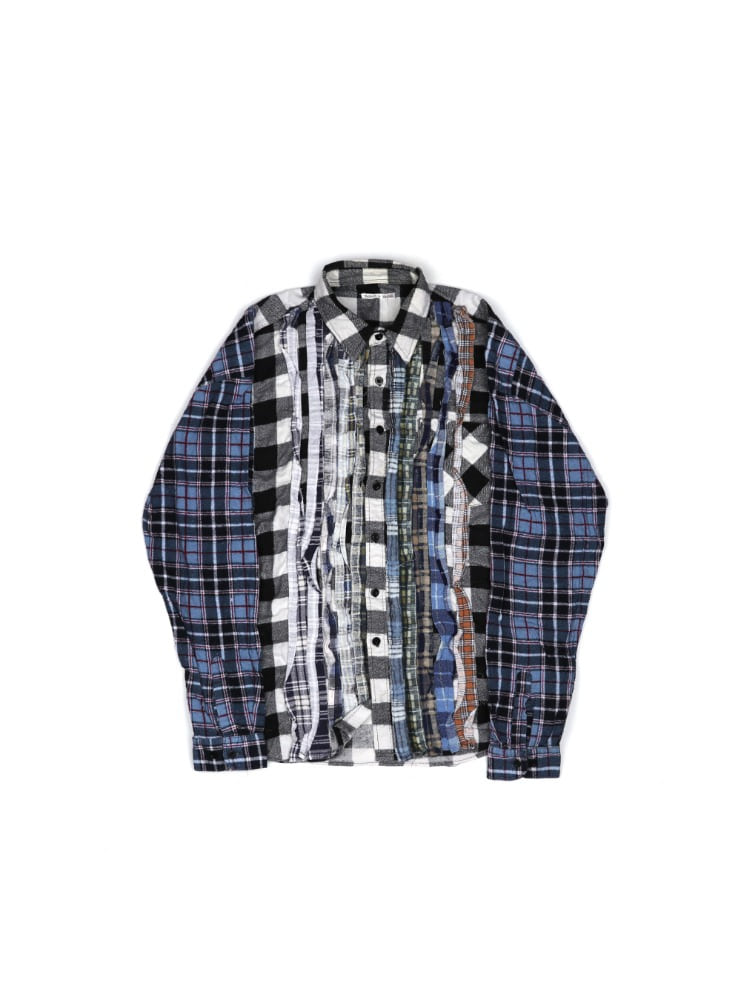 "NEEDLES - REBUILD BY NEEDLES FLANNEL SHIRT RIBBON WIDE SHIRT ""ASSORTED"" 02"
