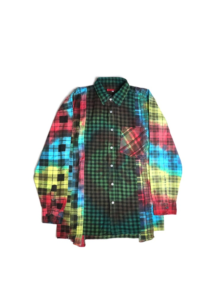 "NEEDLES - REBUILD BY NEEDLES FLANNEL SHIRT 7 CUTS SHIRT ""TIE DYE"" 03"